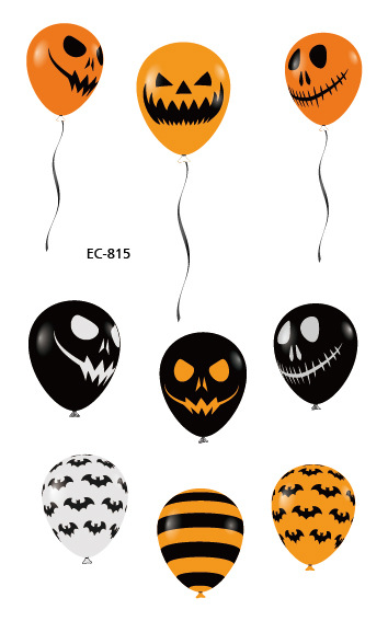 10Pcs Halloween Tattoo Stickers Wacky Cartoon Fun Tattoos For Kid Fake Tatoo Children Body Waterproof Tattoo Sticker Saint 39 s Da in Temporary Tattoos from Beauty amp Health