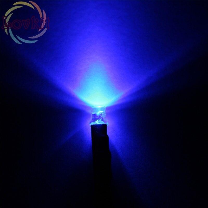 25 PCS 10mm Blue Flashing LED Pre Wired Light 9v 6v 5v 12V Bulb 20cm