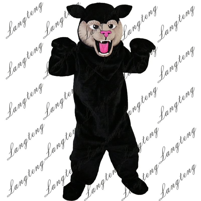 2018 New Hot Sale black Felis silvestris cat Mascot Costume Adult Size Halloween Outfit Fancy Dress Suit Free Shipping