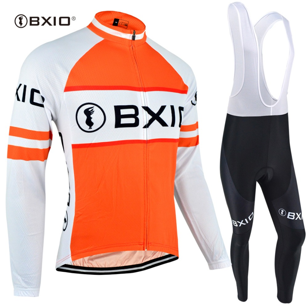 BXIO Brand 2018 Sport Jerseys Orange Road Cycling Sets Clothing Unisex Long  Sleeve Pro Bike Wear wielerkleding Mallot Ciclismo-in Cycling Sets from  Sports ... a8e7ec612