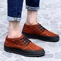 4 Цвета Нубука Из Натуральной Кожи Сапоги Мужчины Обувь Мужчины Сапоги осень Зима Ботильоны Для Мужчин Квартиры Обувь Botas Хомбре ZNPNXN