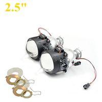 2pcs 2 5inch Bi Xenon Bixenon Bi Xenon Projector Lens H1 H4 H7 Motorcycle Car Hid