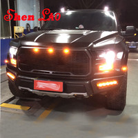 Shenlao Car LED Daylight Daytime Running Light DRL Auto Front Decorative Headlamps For Ford Raptor F150 2017 2018 Accessories