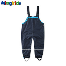 Mingkids boy waterproof overalls cotton padded trousers outdoor pants German quality windproof pants rain 104 128
