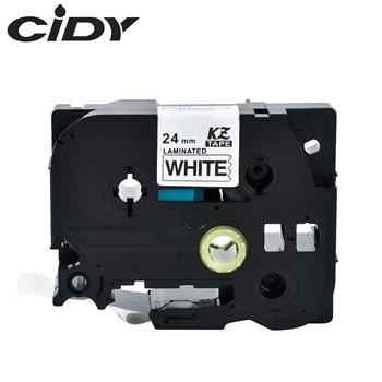 CIDY 100pks compatible laminated strong adhesive TZe label tape TZe251 TZe 251 TZ-251 TZe-251 TZ251 TZ 251 tapes for brother фото