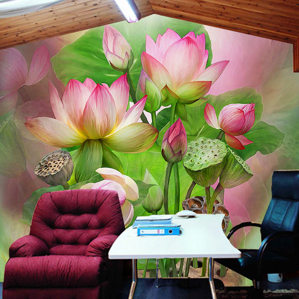 3D photo wallpaper 3D lotus sofa background TV wall bedroom living room lobby warm oil painting flowers mural wallpaper yellow sunflower wallpaper mural painting living room bedroom 3d wallpaper tv backdrop 3d wallpaper photo wallpapers