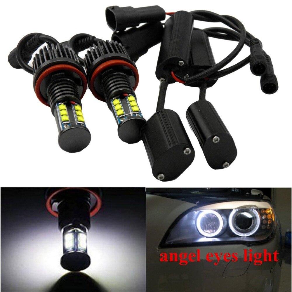 2x Utral-bright 120W H8 LED Angel Eyes Halo Ring Light Bulbs LED Marker for BMW E92 E87  750Li 760Li 740Li BMW F01 F02 7-Series 1 pair 12w h8 led bulbs angel eyes halo light bulbs marker headlight for bmw e60 e82 e87 e90 e92