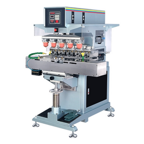 Closed Inkcup 5 Color Pad Printing Machine