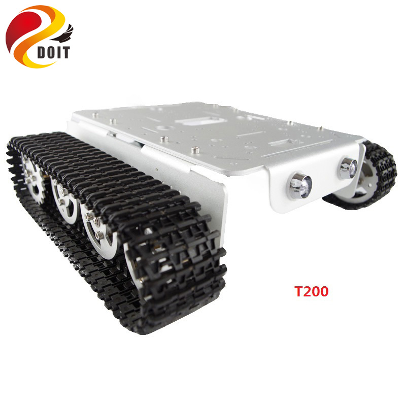 DOIT Smart RC robot Tank Car Chassis metal frame Crawler caterpillar tracked with motor Speed Detection Encoder for arduino diy цена