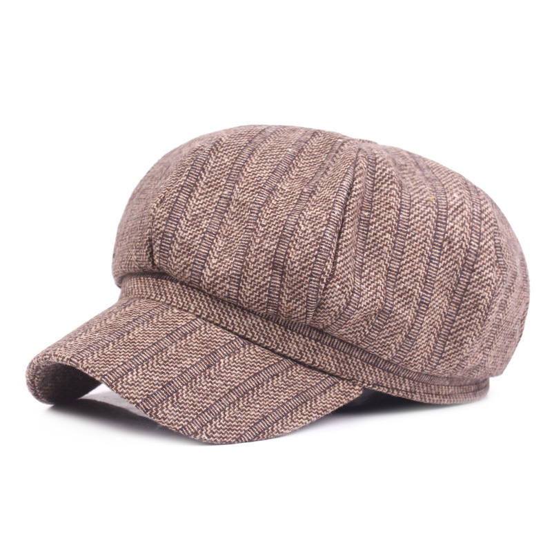 Cotton ladies winter warm beret literary youth painter hat college wind newspaper beanie men's hat