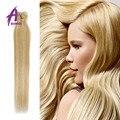 7A Brasileño Clip en Extensiones Recta Cabeza Llena 7 unids rubio Brasileño de la Virgen Del Pelo clip en extensiones del pelo humano #613