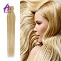 7A Brasileiro Grampo em Extensões Em Linha Reta Cabeça Cheia 7 pcs Brasileiro Do Cabelo Virgem loira grampo em extensões do cabelo humano #613