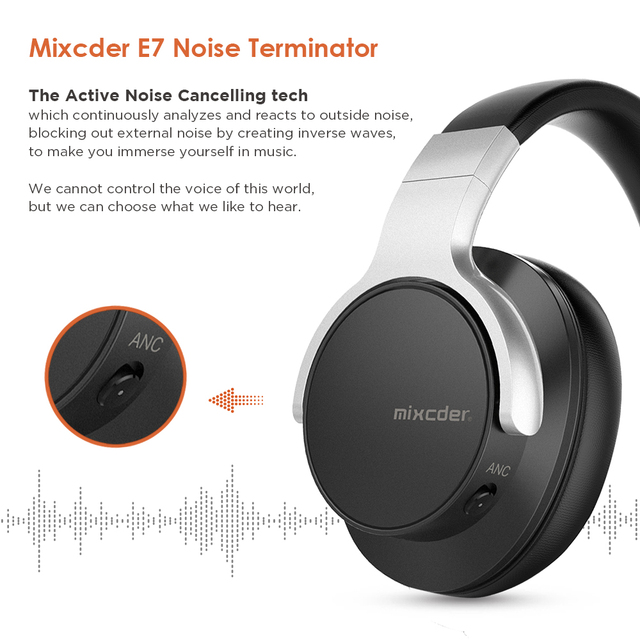 Mixcder E7 Bluetooth Headphones Active Noise Cancelling with Mic 2