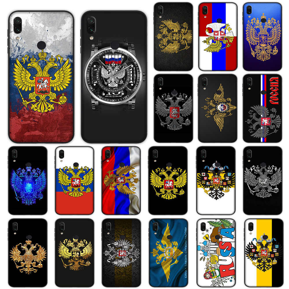Rusia Lambang Bendera Soft Case untuk Xiaomi Redmi Note 4 4X6 7 8 Pro 5 Plus 5A 6A Cover