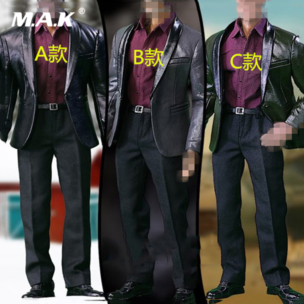 S02ABC 1/6 Trend Fashion leather Men's suit set Jacket Clothes Set for 12 inches Male Action Figures body 1 6 fashion custom air force jacket set punk jacket set with canvas bucket bag f 12 inches g dragon male body action figures