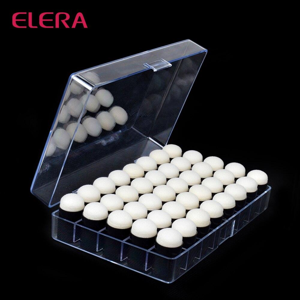ELERA High Quality 40pcs/lot Finger Daubers Foam With Plastic Box Drawing Sponge Foam Finger Chalk Ink Finger Painting Craft Set