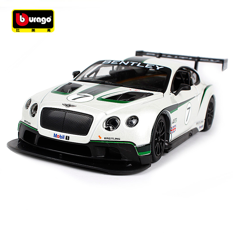 "Bburago 1:24 ""Continental GT3"" sekimo automobilis ""Diecast"" modelio automobilių žaislas ""New In Box"""