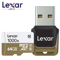 2019 New Lexar 150MB/s 1000x Micro SD 32GB Class 10 64GB micro SDXC 128GB tf Memory Card Reader UHS for Drone Sport Camcorder