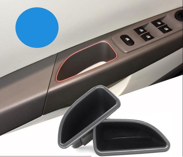 6bb223280f7137 Pour Renault Captur auto accessoires 2 pièces ensemble poignées de porte  boîte de rangement accoudoir