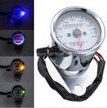 Новый универсальный мотоцикл двойного пробега спидометр датчик из светодиодов подсветка световой сигнал бесплатная доставка