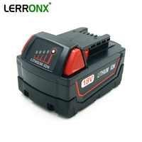 LERRONX o dużej pojemności 5000mAh 18V litowo elektronarzędzia akumulator do Milwaukee M18 wiertarka bateria 48-11-1811 48-11-1850