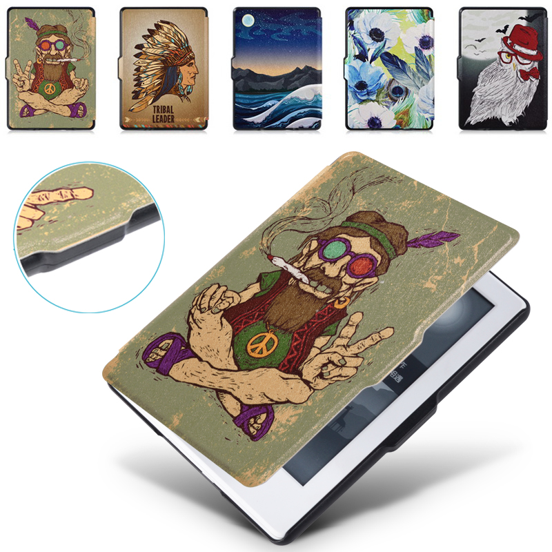 Smart Case for All-New Kindle 8th Generation(2016 Release), Premium PU Leather Cover [Ultra-Slim] [Auto Wake/Sleep]