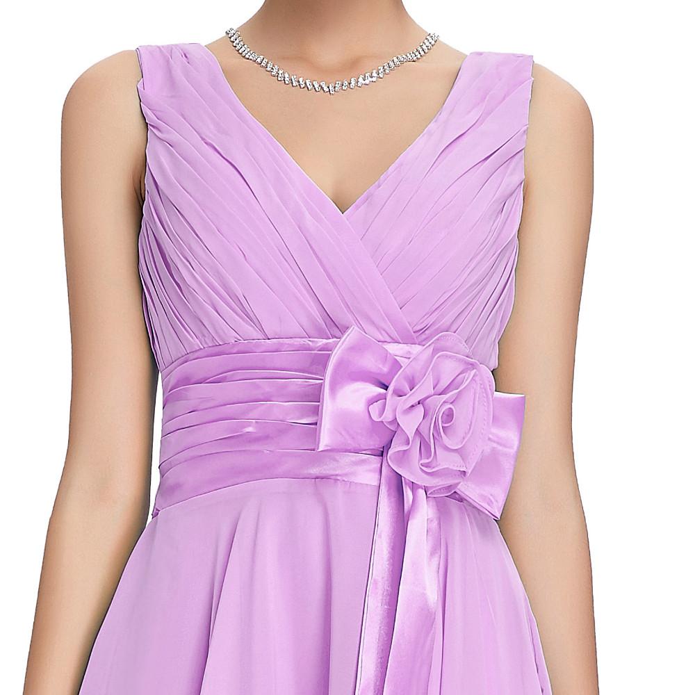 Knee Length Short Chiffon Bridesmaid Dress 7
