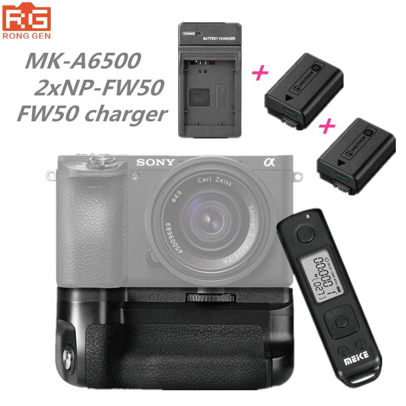 Meike MK-A6500 Pro Batteriegriff Halter Builtin 2,4G Drahtlose Fernbedienung Kleid für Sony A6500 Arbeit mit NP-FW50 Akku