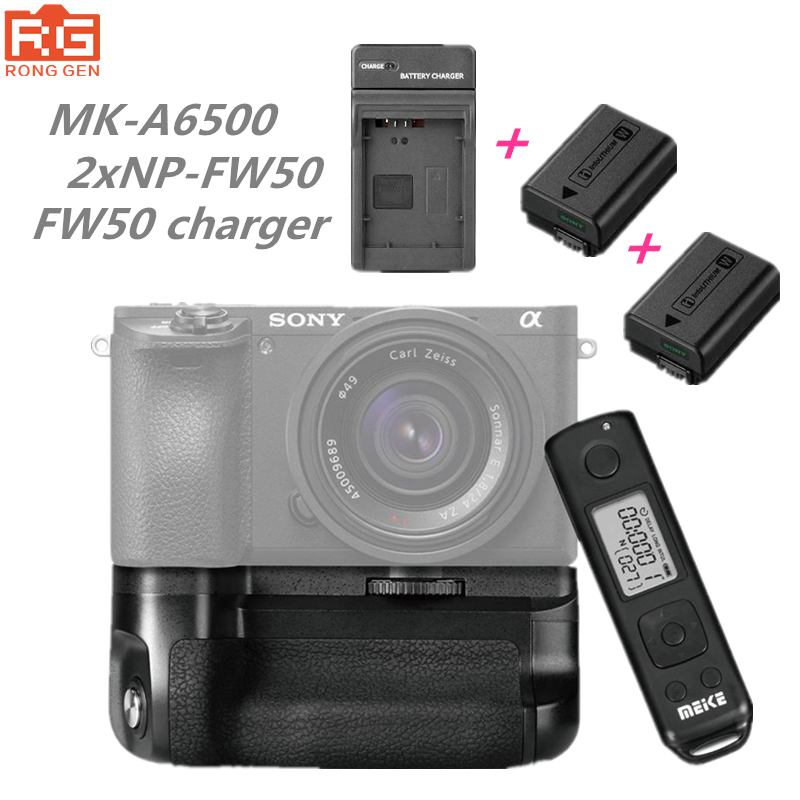 Meike MK-A6500 Pro Battery Grip Holder Builtin 2.4G Wireless Remote Control Dress for Sony A6500 Work with NP-FW50 Battery meike mk a6300 pro remote control battery grip 2 4g wireless remote control for sony a6300 ilce a6300 np fw50