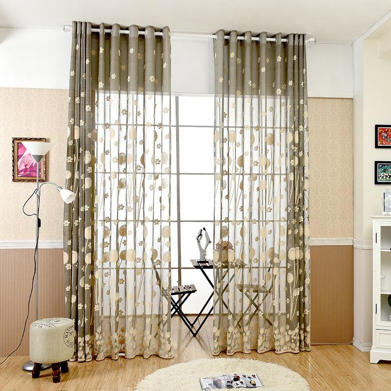 Modern Mesh Design Tulle Window Curtain For Living Room