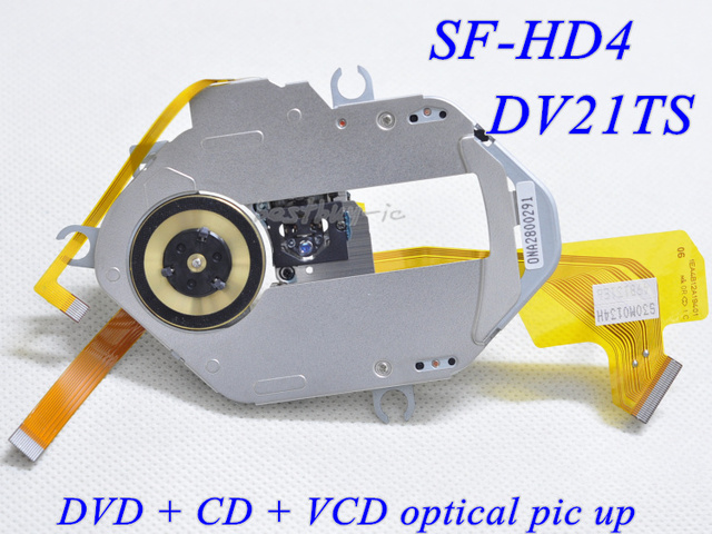 DV21TS / SF-HD4 DVD laser head ( double resistor.Curved line.Black cover ) OPTICAL PICK UP CD+VCD+DVD SF-HD4