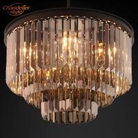Moderne Kristall Prisma Kronleuchter Beleuchtung Vintage Cristal Kronleuchter Hängen Leuchten für Home Hotel Restaurant Dekoration|Kronleuchter|   -