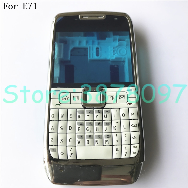 100% Original Full Complete Mobile Phone Housing Battery Cover For Nokia E71+ English Keypad+ Logo