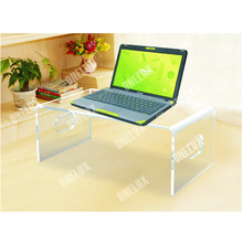 Desktop Acrylic Laptop Stand,Computer Monitor Stand,Lucite PC Desk U Shape ONE LUX