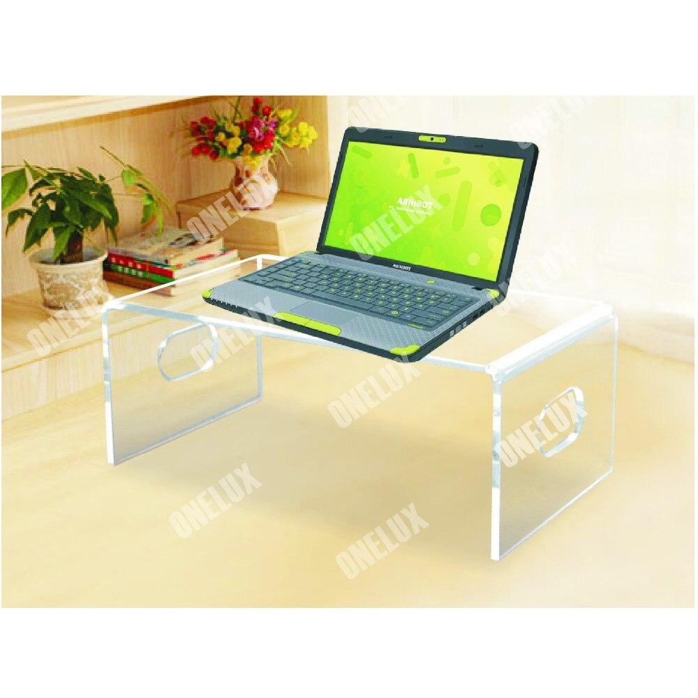 Support dordinateur portable acrylique de bureau, support de moniteur dordinateur, bureau de PC de Lucite U forme un LUXSupport dordinateur portable acrylique de bureau, support de moniteur dordinateur, bureau de PC de Lucite U forme un LUX