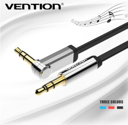 Vention 3.5mm Audio Cable jack to jack 90 Degree Right Angle flat Aux Cable for Car iphone headphone beats Speaker Aux Cord MP3 aixxco 3 5mm audio aux cable jack 3 5 to jack gold plated 90 degree angle spring audio cable 3 5mm male to male for iphone car