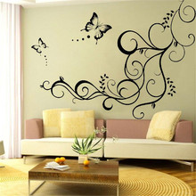 Waterproof Cartoon Butterfly Flower Leaf DIY Art Mural Wall Sticker Living Bed Room Home Decoration Decor