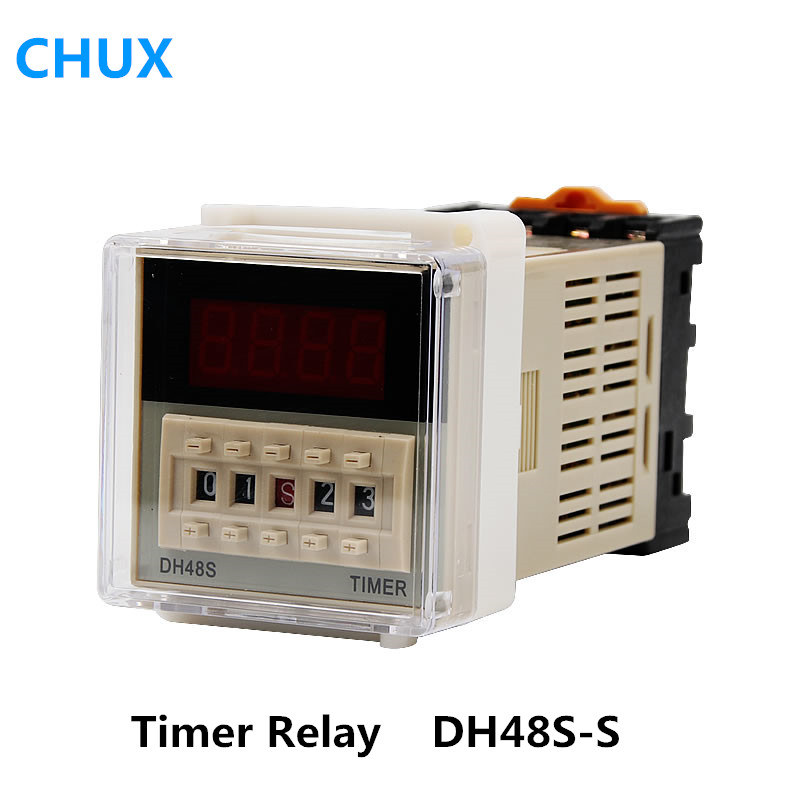 hot DH48S-S DH48S 0.1s-990h AC110v 220v 12vdc 24vdc Repeat cycle SPDT Time Relay solid state relay Sealed With Relay Sockethot DH48S-S DH48S 0.1s-990h AC110v 220v 12vdc 24vdc Repeat cycle SPDT Time Relay solid state relay Sealed With Relay Socket