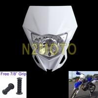 Motocross 헤드 라이트 12 v 35 w 헤드 램프 야마하 wr250f wr450f 가와사키 klx kx 250 450 2012-2016 화이트 dirtbike