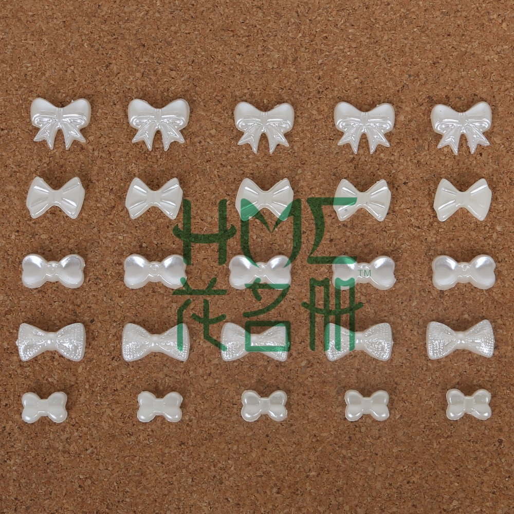 300 шт./пакет галстук-бабочка плоской задней кабошон Imatation Пластик ABS с жемчужным бантом для DIY бусины ремесло Домашний телефон украшения