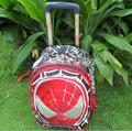 Free shipping High Capacity children schoolbags, foldable spider-man Trolley schoolbag, new children travel suitcase