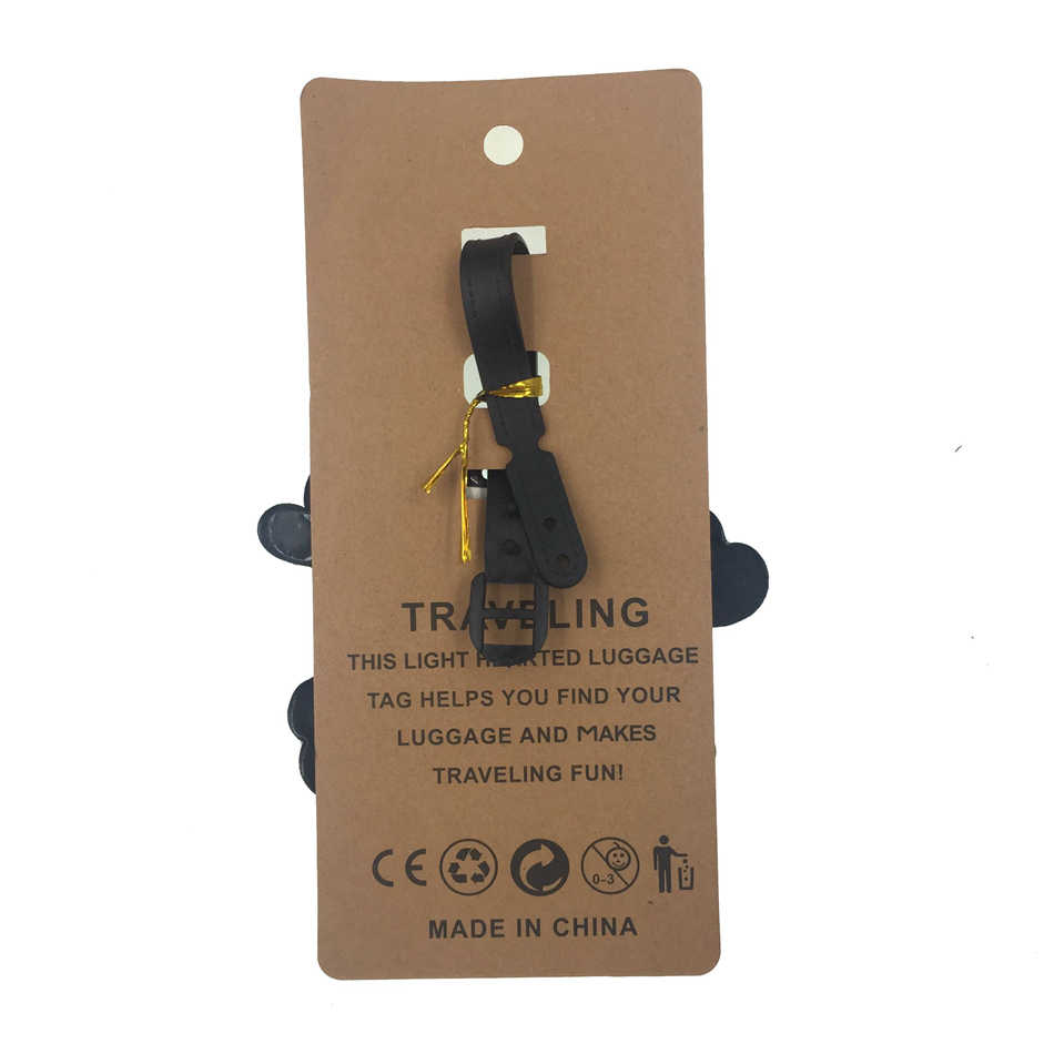 Cartoon Schedel Bagagelabel Reizen Accessoires Vrouwen Silicagel Koffer Id Adres Holder Bagage Boarding Tag Draagbare Label