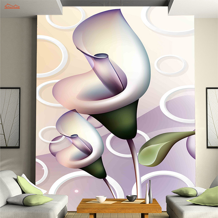 Customize 3D Relief Lilies Abstract Wallpaper for Wall 3d Bedroom TV Background Wall Paper Living Room Non-woven Mural Rolls