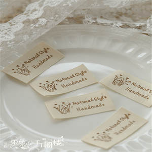 Pure cotton woven label woven lable mark  ironing ruffled
