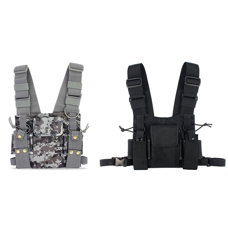 1pcs CS Tactics Chest Front Pack Pouch Vest Rig Case Bag for Baofeng UV-5R UV-82 888S Radio Walkie Talkie Rescue Essentials аксессуары для раций oem 10 usb baofeng walkie talkie 5r 5ra 5rb b5 tg uv2 uvd1p uv6d th uvf1 th uvf9d 985 none page 8