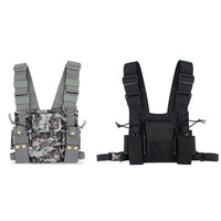 1pcs CS Tactics Chest Front Pack Pouch Vest Rig Case Bag for Baofeng UV 5R UV 82 888S Radio Walkie Talkie Rescue Essentials