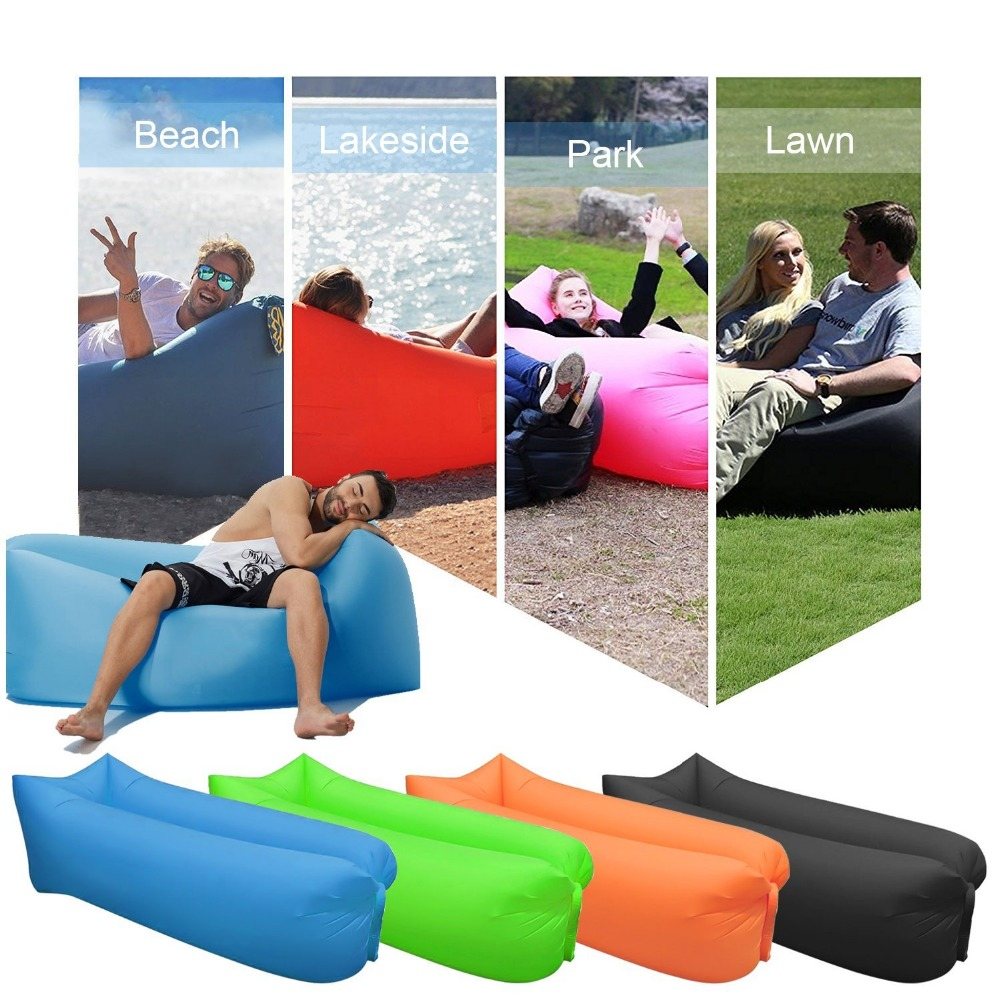 Outdoor camping sofa inflatable sofa sleeping bag nyoln air sofa Beach bed Easy to carry lazy bag inflatable air Lounger couch ...