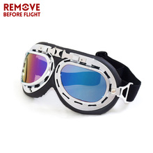 Motorcycle Goggles Vintage oculos motocross Motorbikes Eyewear For Pilot Aviator Moto Riding Scooter Gear Glasses