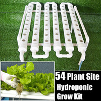 Plastic 54 Holes Hydroponic Piping Site Grow Kit Deep Water Culture Planting Box Nursery Pot Hydroponic Rack Gardening System