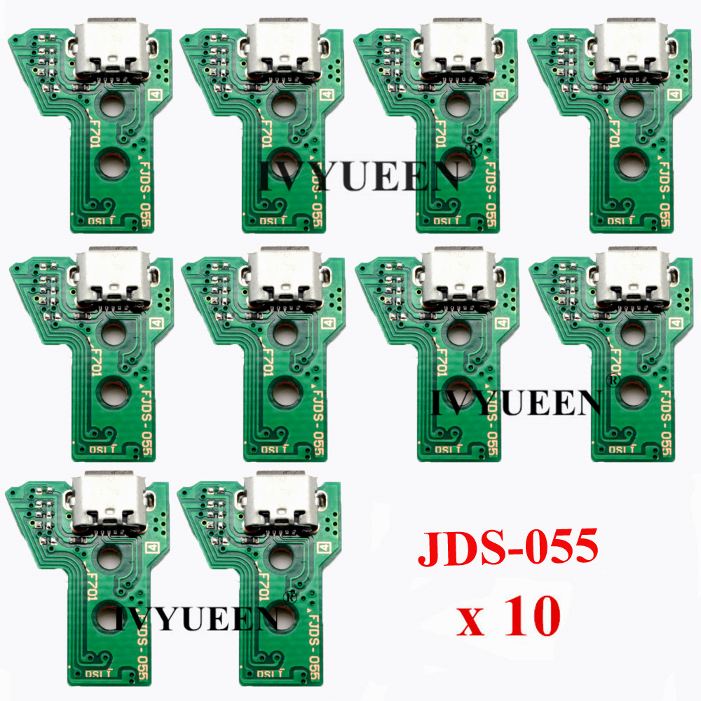 10 pcs JDS 055 040 030 011 USB Charging Port Socket Board For Sony PlayStation 4 PS4 DS4 Pro Slim Controller Charger PCB Board(China)